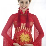 ao dai rouge miss terre 2